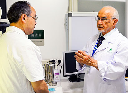 JCI evaluation experts were inspecting in the hospital